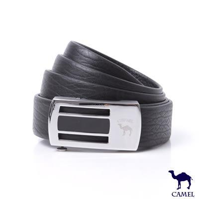 CAMEL駱駝 - 時尚品味自動滑扣頭層牛皮皮帶
