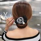 盤髪器 小香風盤髮器女水鉆山茶花丸子頭韓國懶人造型器百變蓬松壓髮帶扎頭髮飾