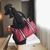 短途旅行包女手提行李袋男韓版大容量牛津布行李包輕便防水健身包『新佰數位屋』