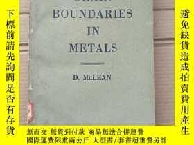 二手書博民逛書店grain罕見boundaries in metals(P1496)Y173412