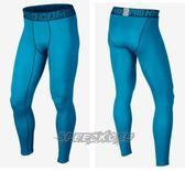 NIKE 長束褲 Npc Hyperwarm 加強型 加厚 閃電 紋路 水藍 596297-413【SP】