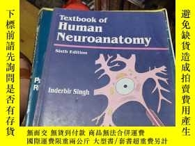 二手書博民逛書店Textbook罕見of Human Neuro anatomy