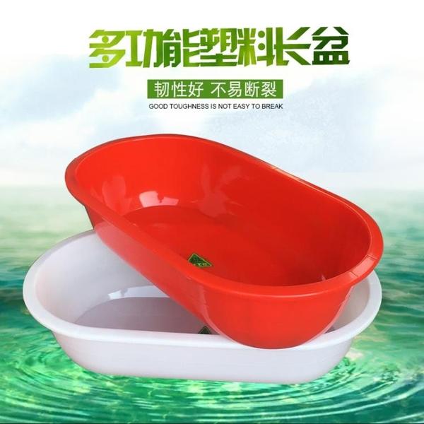 加厚塑料水箱長方形家用儲水圓桶大號洗澡桶水產養殖泡瓷磚盆QM 依凡卡時尚
