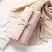 新款學生韓版可愛長款錢包女小清新三折ins簡約百搭女士錢夾
