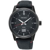 SEIKO精工 CS 城市系列大日期視窗手錶-黑/40mm 6N76-00H0SD(SUR271P1)