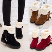 長靴女秋冬雪地靴女短靴女鞋防滑平底加絨加厚短筒靴保暖兩穿棉鞋女靴子 伊莎公主