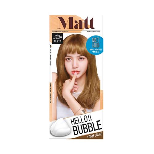 HELLO BUBBLE泡沫染髮劑 8MG迷霧金【寶雅】