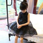 2019季裝童裝韓版中小童蕾絲連身裙短袖中國風禮服公主風洋裝 CJ1054 『美好時光』