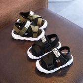 夏季新款寶寶涼鞋1-2-3歲包頭男童沙灘鞋軟底防滑嬰兒鞋子學步鞋    韓小姐