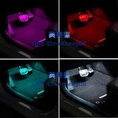 汽車氛圍燈車載內飾腳底氣氛燈usb音樂節奏裝飾燈光【英賽德3C數碼館】