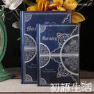筆記本A5B5大號歐式復古風格日記本個性創意加厚筆記本子記事本學生禮品  初語生活