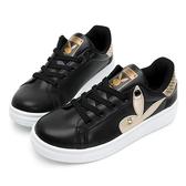 PLAYBOY 後跟品牌logo厚底休閒鞋-黑-Y5718