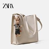 ZARA女包包2021新款潮夏季大容量水桶包通勤包托特包斜挎單肩大包 陽光好物