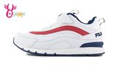 FILA 中大童 成人女款 機能升級 足弓支撐 MD輕量慢跑鞋 運動鞋 P7600#白藍◆OSOME奧森鞋業