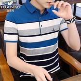 短袖 富貴鳥夏季新款韓版男士帶領POLO衫短袖t恤襯衫領半袖男裝潮