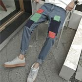 韓版寬松青年時尚哈倫牛仔褲 米蘭shoe