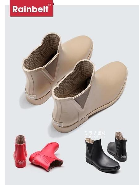 年終穿搭new Year 雨鞋女水鞋女雨靴短筒防水防滑時尚切爾西休閒膠鞋成人