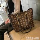 香港正品真皮女包包2020新款潮時尚大容量女士托特包單肩子母包女 怦然新品