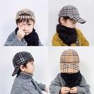 兒童帽    兒童帽子男 潮男童寶寶時尚鴨舌帽毛呢棒球帽韓版秋冬新款保暖帽   童趣屋