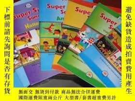 二手書博民逛書店Super罕見Simple Songs 1-7冊合售Y14635