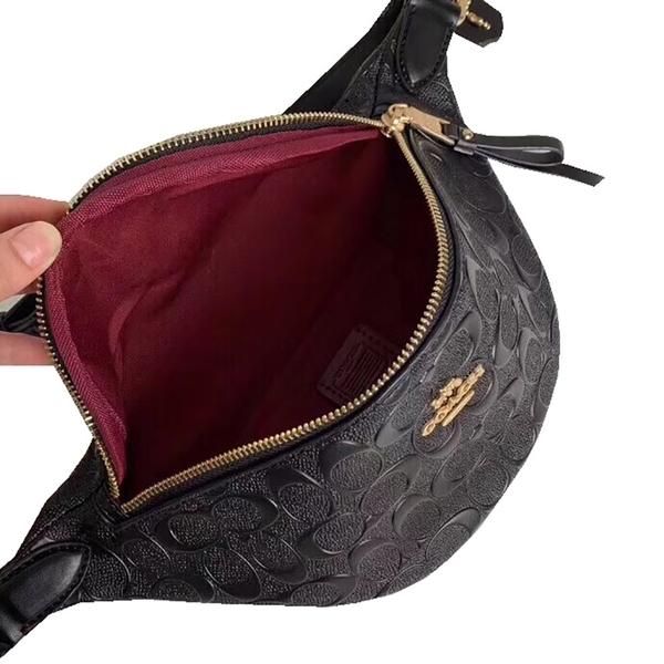 ~雪黛屋~COACH 腰包小容量背帶可調肩斜背國際正版保證100%防水防刮皮革等10-15日C487411