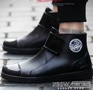 男士時尚短筒雨靴女水靴套鞋耐磨防滑防水鞋膠鞋廚房水鞋CY『新佰數位屋』
