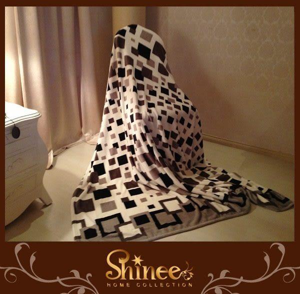 SHINEE 特級法蘭絨毯《都市普普風》1入--- 毯子 棉被 四季被 被子