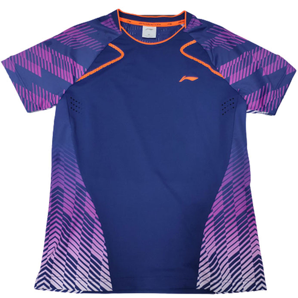 【LI-NING】李寧羽球專業運動服 比賽服 男款 深藍 LNAAYN035-3002 [陽光樂活=]