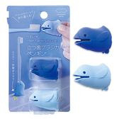 日本MARNA 站立企鵝造型兩用牙刷收納套2入 藍*淺藍 【ideas創意好生活】