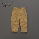 Queen Shop【04101337】童裝 親子系列 立體口袋長褲 兩色售 S/M/L*現+預*