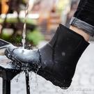 時尚男雨鞋中筒雨靴防滑水鞋短筒加絨膠鞋廚房洗車釣魚工作鞋CY『新佰數位屋』