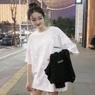 情侶裝2020年夏季新款短袖T恤女寬鬆亮片閃閃半袖白色上衣服ins潮 店慶降價