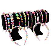 diy兒童串珠玩具益智 手工制作材料寶寶穿串珠子女孩項鍊手鍊禮物 晴天時尚館