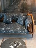 沙發套 黑色大理石ins北歐沙發墊全棉布藝坐墊百搭耐髒防滑 卡卡西