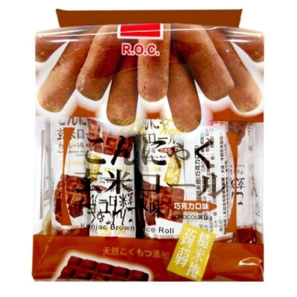 【北田】蒟蒻糙米捲-巧克力口味16入/包(180g)-奶蛋素