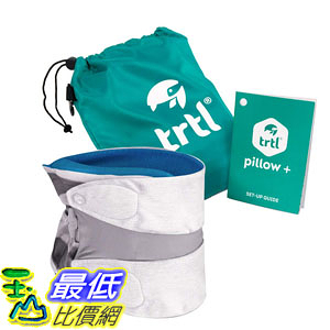 [8美國直購] 旅行枕 Trtl Pillow Plus Travel Pillow Fully Adjustable Neck Pillow Airplane Travel Car Bus Rail