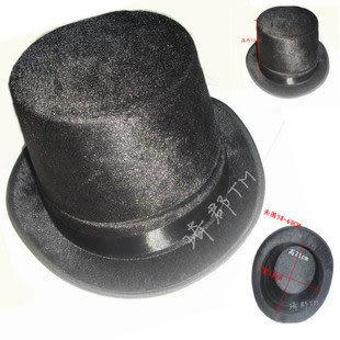 cos服裝紳士帽 搖滾  魔術師 金絲絨布
