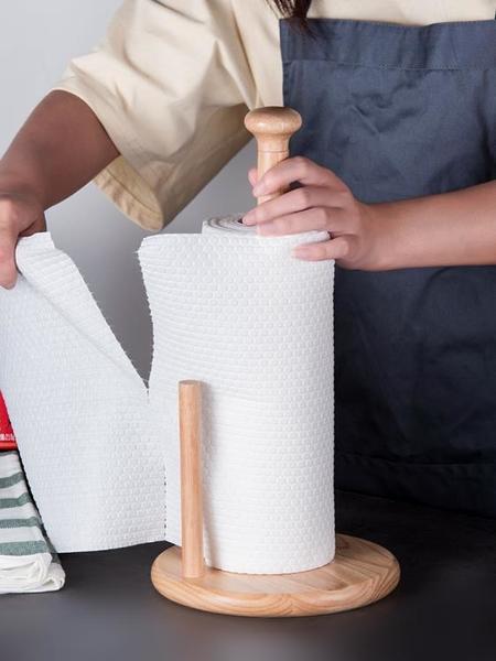 加高廚房紙巾架木質吸油卷紙底座創意免打孔用紙架子