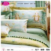 雙人【兩用被套+薄床包】(5*6.2尺)/高級四件式100%純棉雙人『兔子˙蝴蝶˙蜻蜓』part1☆*╮