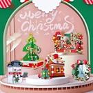 聖誕節 圣誕節禮物積木相框兼容樂高圣誕樹雪人姜餅屋鏡子拼裝飾網紅