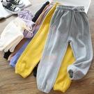 女童全棉彩色親子運動褲中小兒童休閑衛褲寶寶秋款長褲【聚可愛】