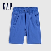 Gap男童 工裝風鬆緊直筒短褲 682045-藍色