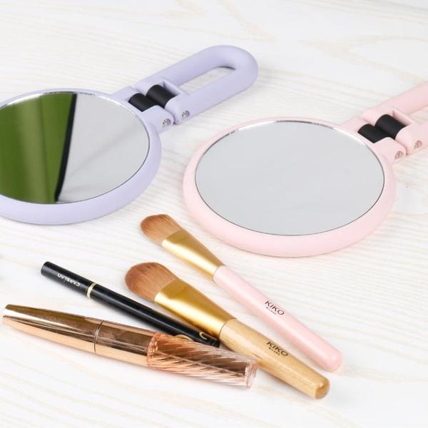鏡子細胞夾雙面毛孔化妝鏡手持臉部放大15倍高清10倍擠黑頭拔粉刺工具 小山好物