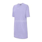 Nike 洋裝 NSW Essential Dress 紫 白 女款 長版T恤 運動休閒 【ACS】 CJ2243-569