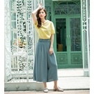 春夏5折[H2O]超涼爽顯瘦寬口長褲裙 - 綠/藍/咖色 #0688013