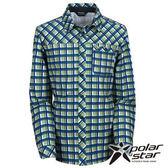 PolarStar 男 針織格子長袖襯衫 『蘋果綠』P15215