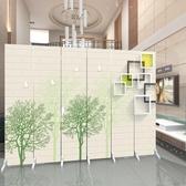 歐式屏風隔斷客廳時尚簡約現代布藝玄關臥室房間簡易折疊行動折屏 xw  快速出貨