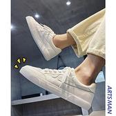帆布鞋春季百搭透氣低幫鞋子ins潮流休閒小白鞋韓版港風板鞋男鞋2 幸福第一站