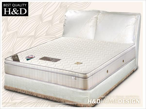 床墊 獨立筒 日式透氣三線3M防潑水6尺雙人加大獨立筒床墊 / H&D東稻家居