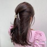 髮飾 韓國簡約抓夾頭飾~中號珍珠氣質發抓少女心發飾后腦勺頂夾發夾-星時代生活館